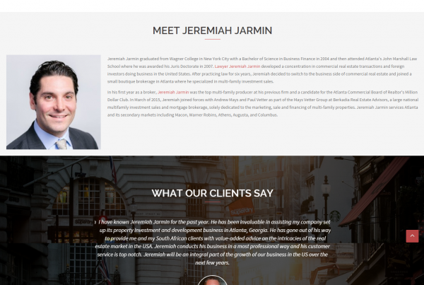 Jeremiah Jarmin Atlanta Real Estate Investment Advisor